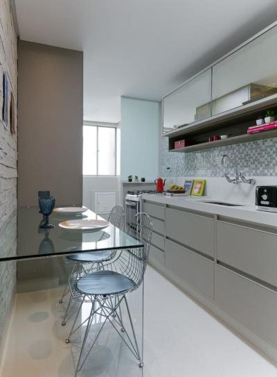 Кухня 6 кв. м в стиле минимализм 6
