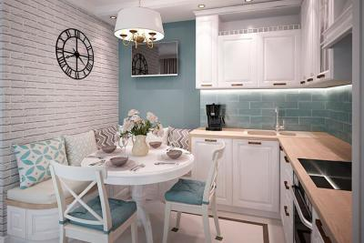 Кухня 6 кв. м в стиле прованс 2