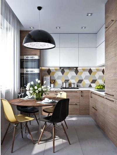 Кухня 6 кв. м в стиле скандинавском 4
