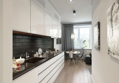 Однорядная кухня 6 кв.м 1