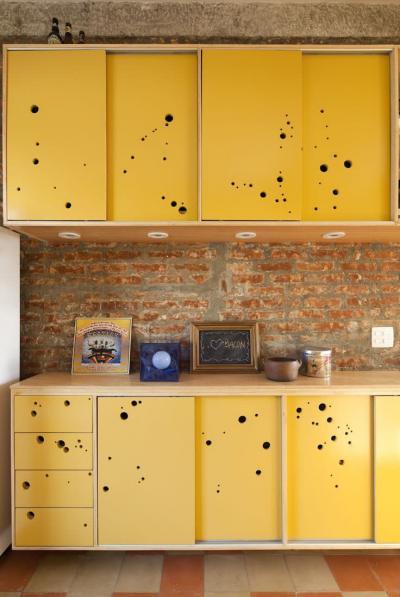 Желтая кухня 6 кв.м 6