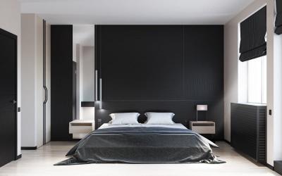 Черная спальня 18 кв. м 1