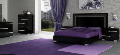 Фиолетовая спальня 18 кв. м 1