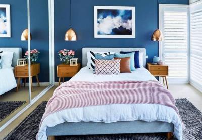 Голубая спальня 18 кв. м 2