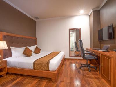 Коричневая спальня 18 кв. м 1