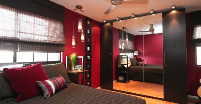 Красная спальня 18 кв. м 2
