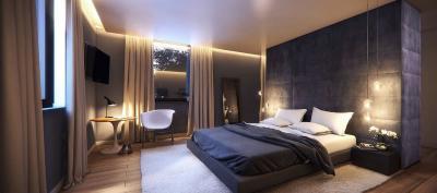 Спальня 18 кв. м с перегородкой 1