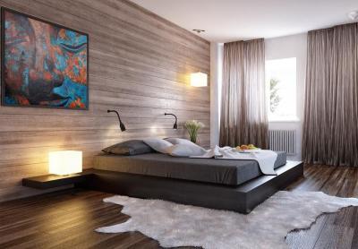 Спальня 18 кв. м с подиумом 3