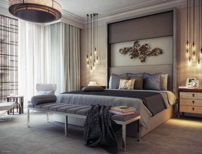 Спальня 18 кв.м с софой 5