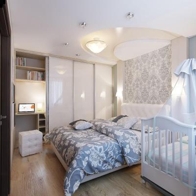 Спальня с детской кроваткой 2