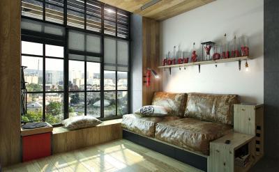 Спальня с диваном 2