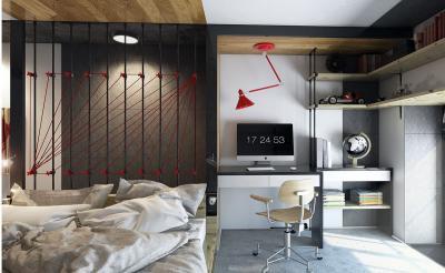 Спальня с рабочим местом 1