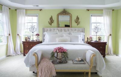 Зеленая спальня 18 кв. м 1