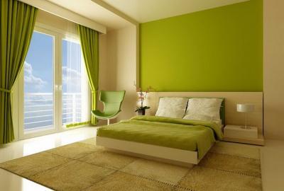 Зеленая спальня 18 кв. м 3