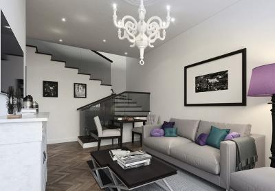 Дизайн гостиной 18 кв. м 3