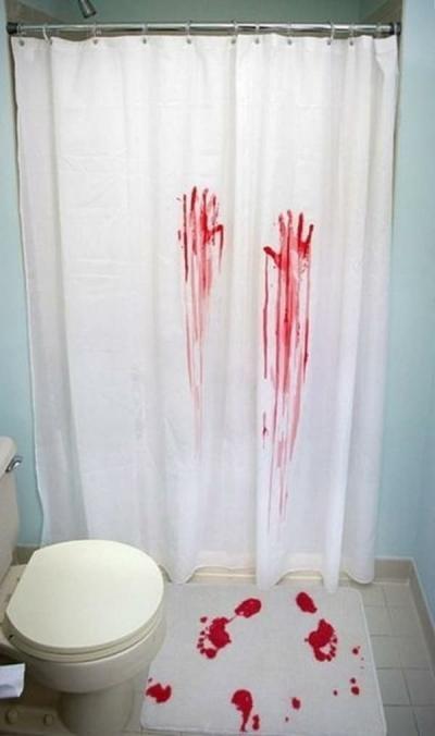 Креатив так и прёт! 11 необычных шторок для ванной