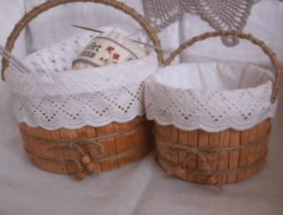Декоративная корзинка своими руками