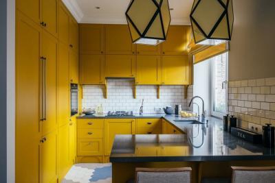 Цвет для кухни 12 кв.м. желтый 1