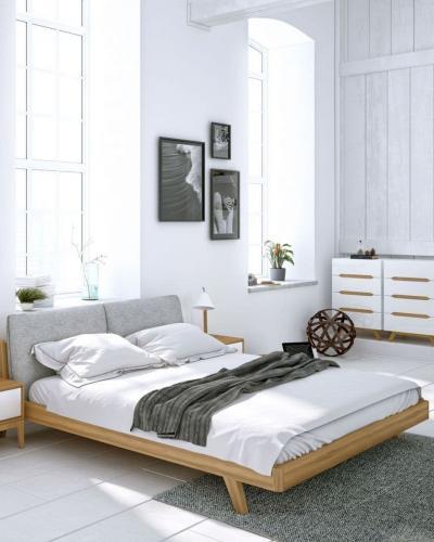 Натуральные материалы в интерьере спальни 2019 1