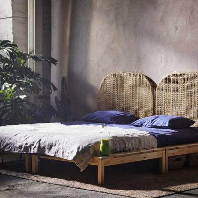 Натуральные материалы в интерьере спальни 2019 2