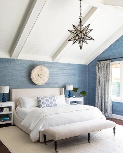 Оформление стен в спальне 2019 обои 3
