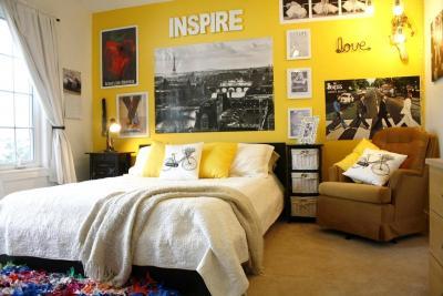 Текстурированные материалы в интерьере спальни 2019 2