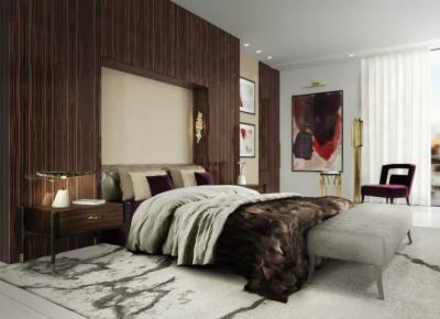Текстурированные материалы в интерьере спальни 2019 4