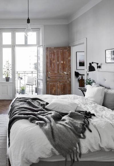 Текстурированные материалы в интерьере спальни 2019 6