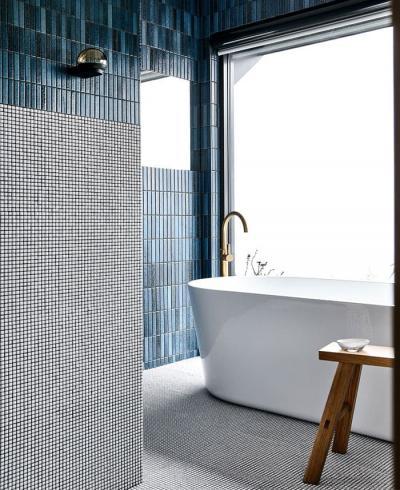 Оформление стен в ванной 2019 3Д-плитка 4