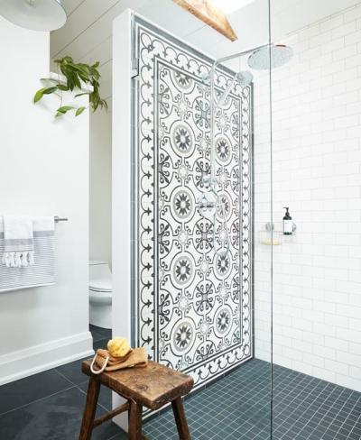Оформление стен в ванной 2019 кафель 1