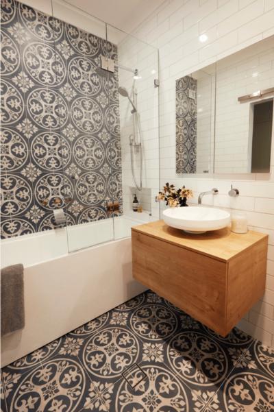 Оформление стен в ванной 2019 кафель 2