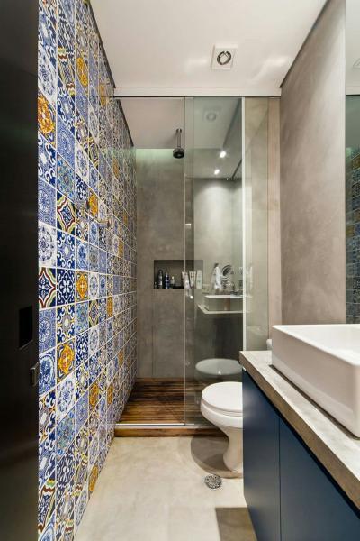 Оформление стен в ванной 2019 кафель 3