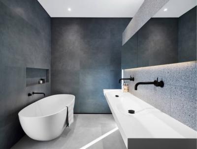 Оформление стен в ванной 2019 терраццо 1