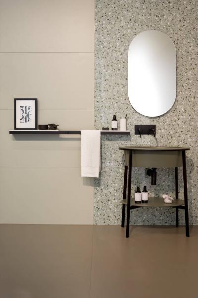 Оформление стен в ванной 2019 терраццо 3