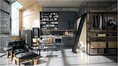 Пол на кухне в стиле лофт 3