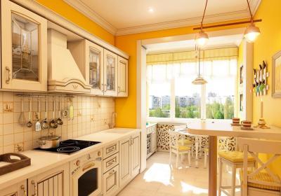 Кухня в стиле прованс желтая 1