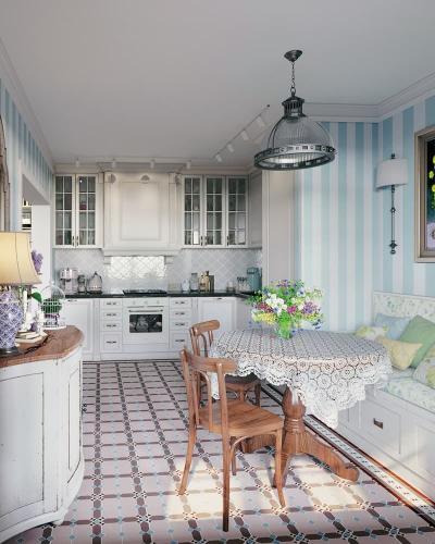 Обеденный стол для кухни в стиле прованс 2