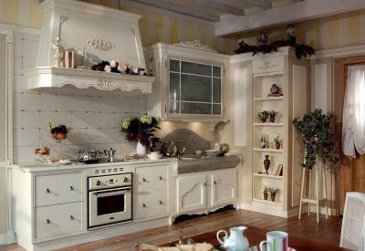 Оформление стен в кухне в стиле прованс 4