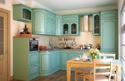 Планировка кухни в стиле прованс 5