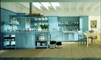 Потолок для кухни в стиле прованс 3