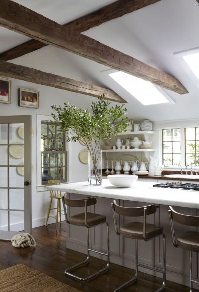 Потолок для кухни в стиле прованс 6