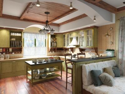 Шторы для кухни в стиле прованс 5