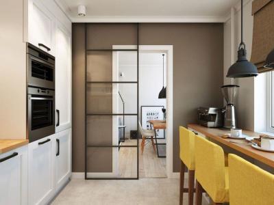 Двери для кухни в скандинавском стиле 2
