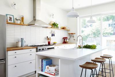 Отделка стен на кухне в скандинавском стиле 1