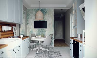 Отделка стен на кухне в скандинавском стиле 3