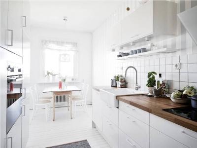 Отделка стен на кухне в скандинавском стиле 4
