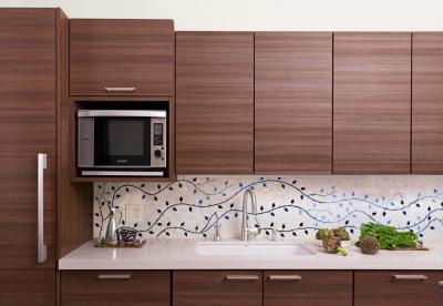Дизайн фартука для кухни из плитки 1