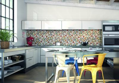 Дизайн фартука для кухни из плитки 6