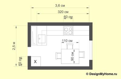 Планировка кухни 9 кв. м в классическом стиле (op-2, г. Москва)