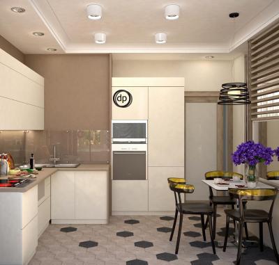 Кухня в бежевом цвете (Диана Пономарева, г. Москва) 2